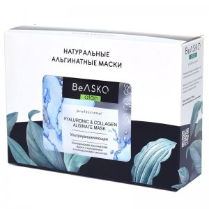 Гиалуроновая альгинатная маска ультраувлажняющая с коллагеном и гиалуроновой кислотой / Hyaluronic & Collagen Alginate Mask, BeASKO - 6*30 гр