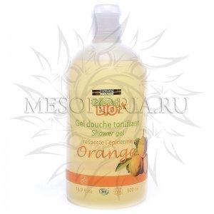 Гель для душа с апельсином, Gel douche tonifiant shower gel follement bio, Kosmoteros (Космотерос), 500 мл