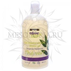 Гель для душа с зеленым чаем / Gel Douche Vivifiant Shower Gel Respecte L'epiderme The Vert, Kosmoteros (Космотерос), 500 мл