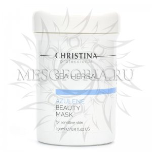 Маска красоты на основе морских трав для чувствительной кожи «Азулен» / Sea Herbal Beauty Mask Azulene For Sensitive Skin, Christina (Кристина) - 250 мл
