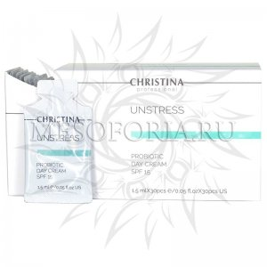 Дневной крем с пробиотическим действием СПФ 15 / Probiotic Day Cream SPF 15, Unstress, Christina (Кристина) - 1,5 мл х 30 шт