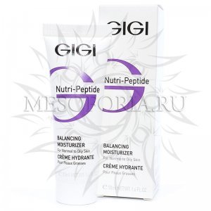 Пептидный увлажняющий балансирующий крем для жирной кожи/ Creme Hydratante Balancing moisturizer for normal and oily skin, Gigi, 50 мл купить
