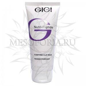 Пептидная очищающая маска для жирной кожи / Purifying Clay Mask, Nutri-Peptide, GiGi (Джи Джи) - 200 мл