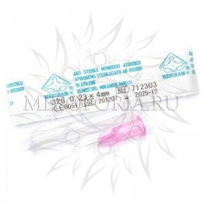 """Иглы для мезотерапии и микроинъекций """"Mesoram"""" AGO MESO LUER 32G 0,23 х 4 мм, 1 шт"""