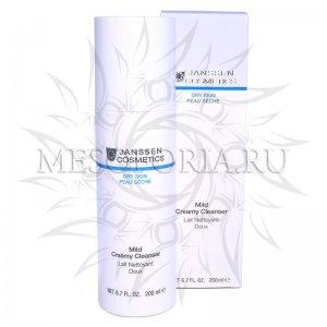 Очищающая эмульсия / Mild Creamy Cleanser, Dry Skin, Janssen Cosmetics (Янсен косметика), 200 мл