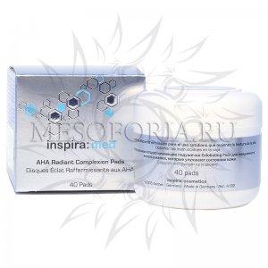 Диски-спонжи с AHA-кислотами для обновления и сияния кожи / AHA Radiant Complexion Pads, Inspira Med, Janssen Cosmetics (Янсен косметика), 40 шт
