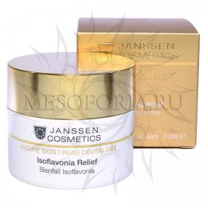 Капсулы с фитоэстрогенами и гиалуроновой кислотой / Isoflavonia Relief, Janssen Cosmetics (Янсен косметика), 50 капсул