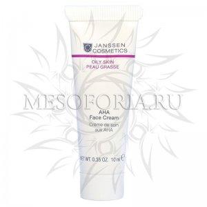 Крем с фруктовыми кислотами / AHA Face Cream, Oily Skin, Janssen Cosmetics (Янсен косметика), 10 мл