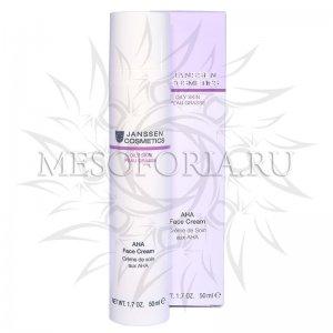 Крем с фруктовыми кислотами / AHA Face Cream, Oily Skin, Janssen Cosmetics (Янсен косметика), 50 мл