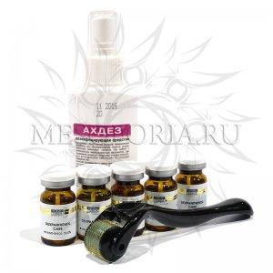 Набор с мезороллером Dr Mezo, мезококтейлями KOSMOTEROS и средством для дезинфекции (жирная кожа, акне, постакне) купить