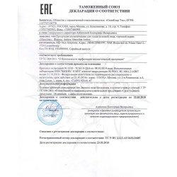 Декларация соответствия на Antiox Mesoline