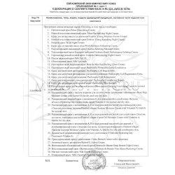 Приложение к декларации соответствия на кремы Christina 3