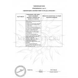 Декларация соответствия на сыворотки, концентраты, эссенции част
