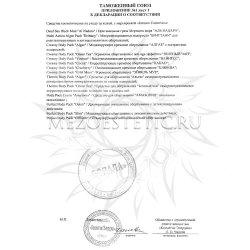 Приложение к декларации соответствия на продукцию Janssen №1