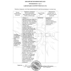 Декларация соответствия на косметику Kosmoteros стр 2